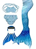 SPEEDEVE Mädchen Meerjungfrauenschwanz Zum Schwimmen mit Meerjungfrau Flosse, 10 (120-130cm),...