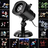 SALCAR Halloween deko Weihnachten LED Effektlicht, LED Projektor Lichter mit 12 Motiven,...