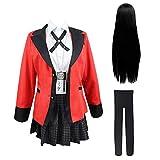 Bestcomcl Jabami Yumeko Cosplay Outfit Uniform Perücken Set Anime Kakegurui Yumeko Cosplay Kostüm...