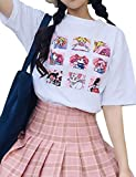 ALTcompluser Anime Sailor Moon T-Shirt Kurzarmshirt Sommer Top Print Shirt Casual O-Neck(M)