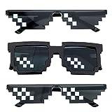 Pixel Sonnenbrille, Comius Sharp [3 Pack] Mosaik-Gläser, Thug Life Brille, Deal mit ihm Brille,...