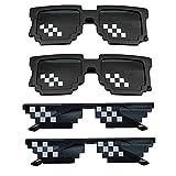 Thug Life Sonnenbrille Pixel Sonnenbrille Lustig Spielzeug Sunglasses Mosaik Sonnenbrillen für...