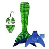 magictail Original Meerjungfrauenflossen zum Schwimmen für Kinder und Erwachsene mit Kostüm,...