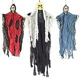JOYIN 3 Stück hängenden Skelett Gespenst Halloween Dekorationen (EIN 89cm Skelett Geister und Zwei...