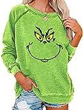 Bprtcra Weihnachten Grinches Sweatshirt, Kreativer Weihnachts Pullover Langarm Frauen Sweatshirt...