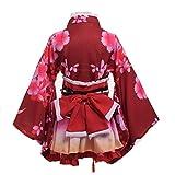 GRACEART Yukata Kimono Kostüm Set (Rot)
