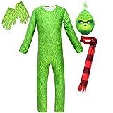 KIDSCOSPLAY Kinder Cosplay Kinder Green Monster Grinch Kostüm Halloween Uniform Halloween...