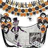 Jonami Halloween Deko XXL Set - Dekoration und Accessoires für Grusel Party und Garten - Girlande,...