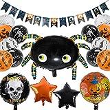 balnore 34 Stücke Halloween Party Luftballons Deko, Happy Halloween Ballons Set Party Dekorationen...
