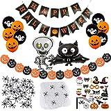 SicurezzaPrima Halloween Deko 2021 XXL Set - 71 Teile - Dekoration und Accessoires für Grusel Party...