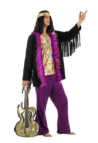 Faschingskostüm Karnevalskostüm Herren Hippie