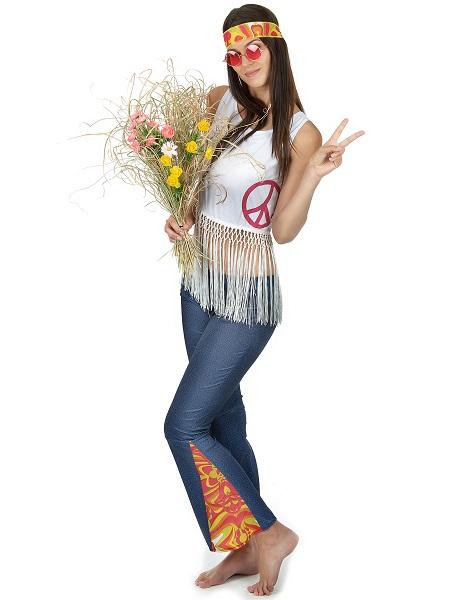 Faschingskostüm für Damen Hippie