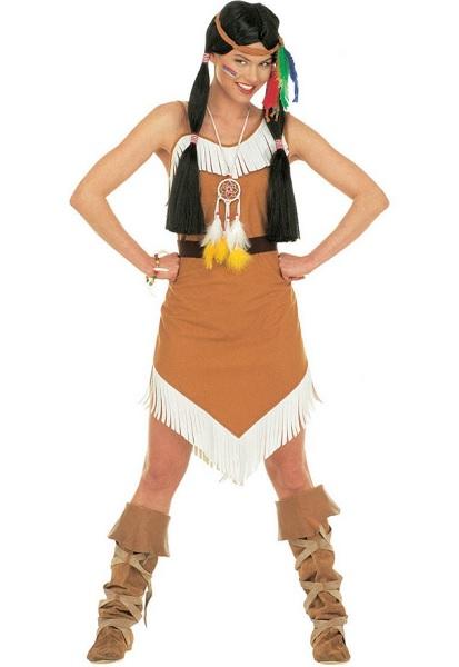 Indianer Indianerin Kostüm Damen