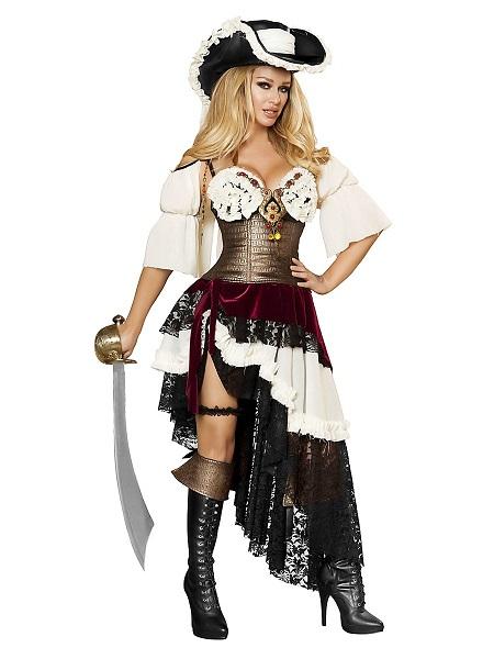 Piratin Kostüm Piratenkostüm Damen