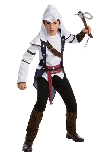 Assassins Creed Kostüm Kinder Jungen Mädchen Connor