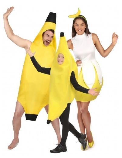 Gruppenkostüm Fasching Karneval Halloween Banane 3 Personen