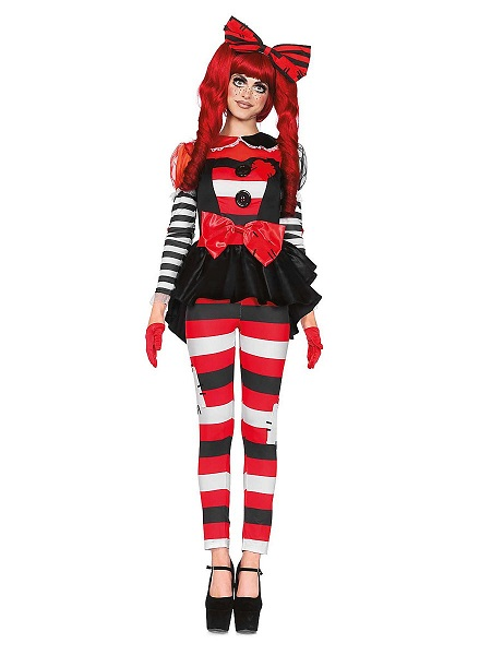 Halloween Kostüm Damen Flickenpuppe