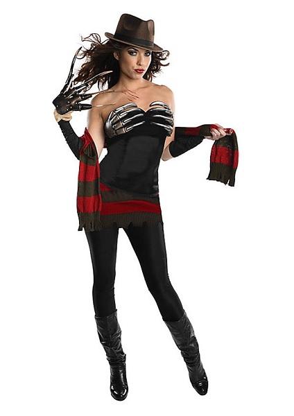 Halloween Kostüm Damen Freddy Krüger