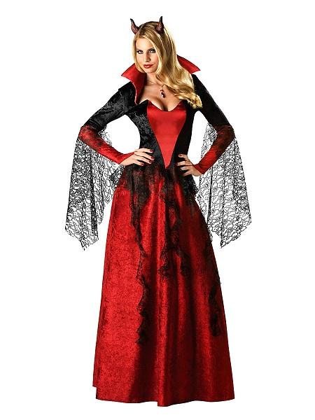 Halloween Kostüm Damen Vampir Dämonenbraut