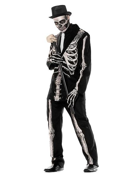 Halloween Kostüm Herren Skelett