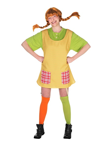Kindheitshelden Kostüm Pippi Langstrumpf Damen