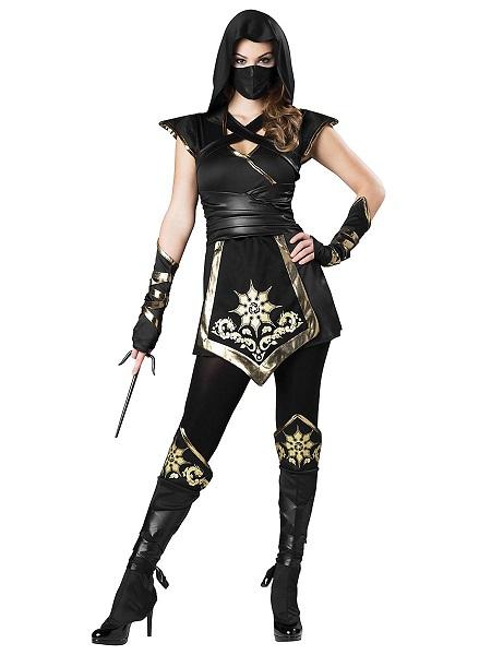 Ninja Kostüm Damen Frauen Erwachsene