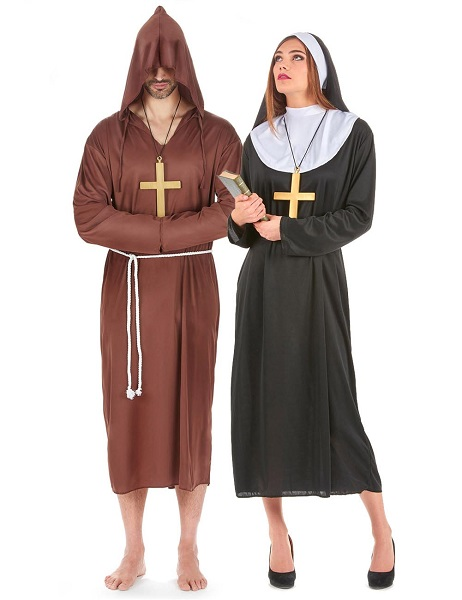 Nonnenkostüm Mönchskostüm Partnerkostüm Damen Herren