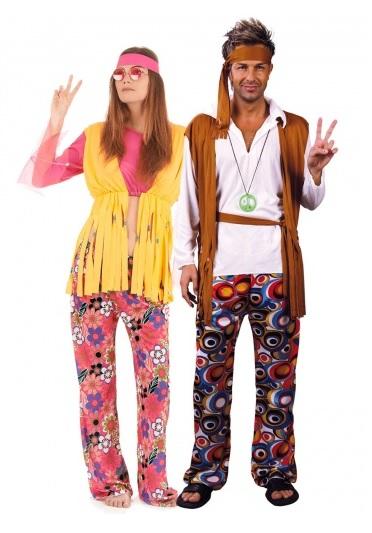 Partnerkostüm Pärchen Paar Kostüm Hippie