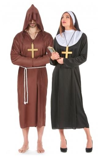 Partnerkostüme Nonne und Mönch
