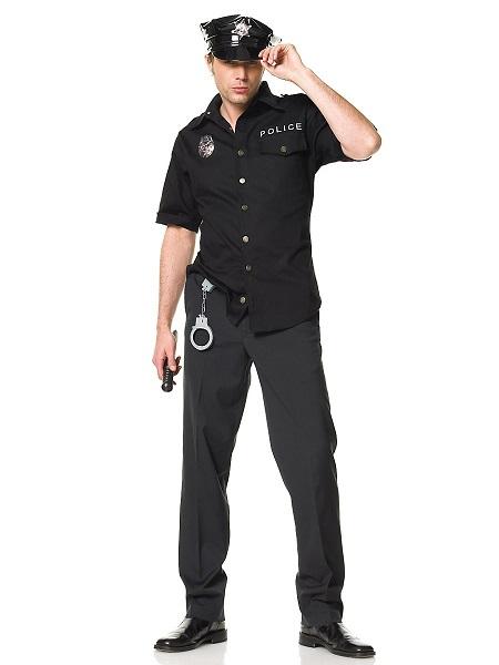 Polizei Kostüm Herren Männer Polizist Erwachsene