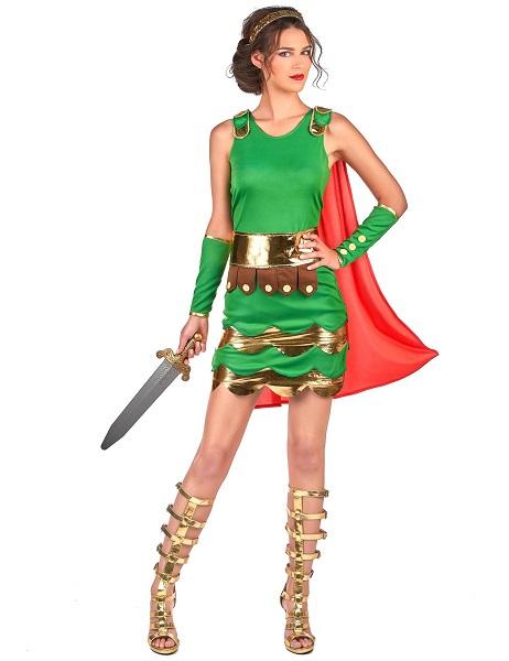 Römerin Kostüm für Damen Römer Gladiator Kostüm Frauen