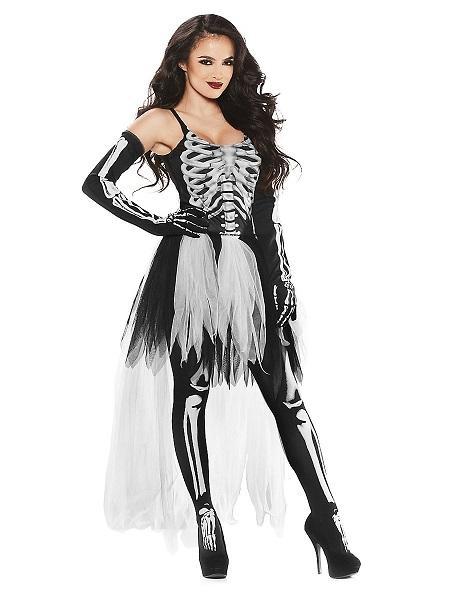 Skelett Kostüm Damen Frauen Erwachsene