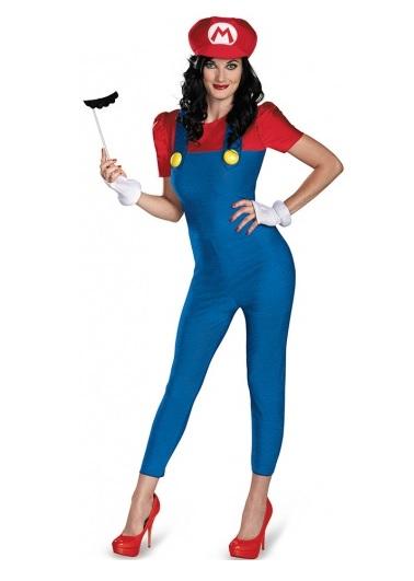 Super Mario Kostüm Damen