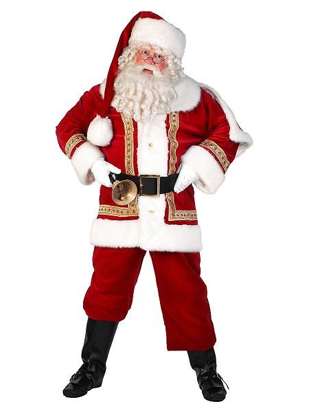 Weihnachtsmann Kostüm Herren Nikolaus
