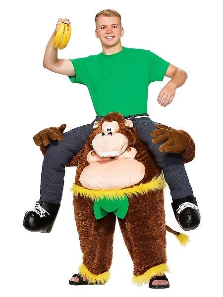 Witziges Lustiges Kostüm Herren Männer Huckepack Carry Me Kostüm Affe