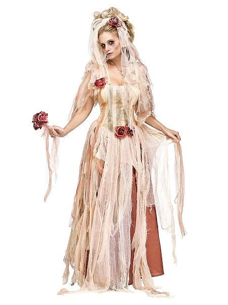 Zombie Braut Kostüm Damen Frauen Erwachsene