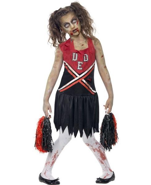 Zombie Cheerleader Kostüm Kinder Mädchen