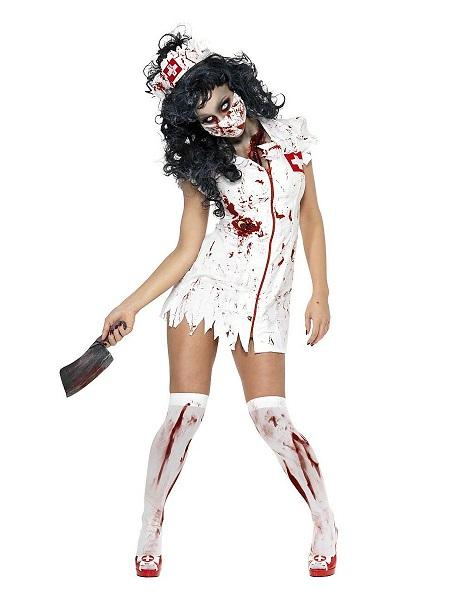Zombie Kostüm Damen Krankenschwester Frauen Erwachsene