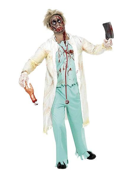Zombie Kostüm Herren Arzt Chirurg Männer