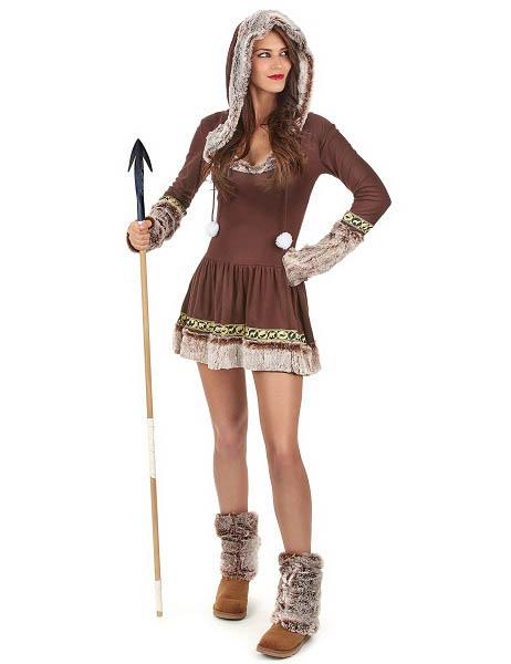 Eskimo Kostüm Damen Frauen Erwachsene