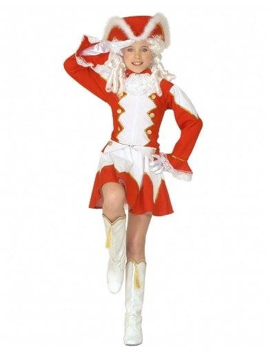 Gardekostüm Kinder Mädchen Tanzmariechen Funkenmariechen Kostüm