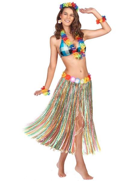 Hawaii Kostüm Damen Frauen Erwachsene Bastrock
