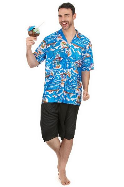 Hawaii Kostüm (& Bastrock) für Damen, Herren & Kinder