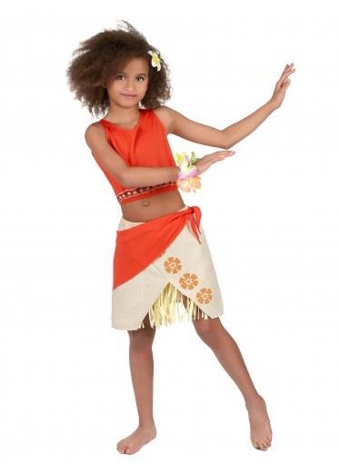 Hawaii Kostüm Kinder Mädchen Bastrock