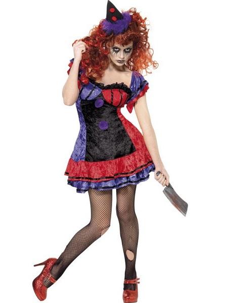 Horrorclown Kostüm Damen Frauen Erwachsene