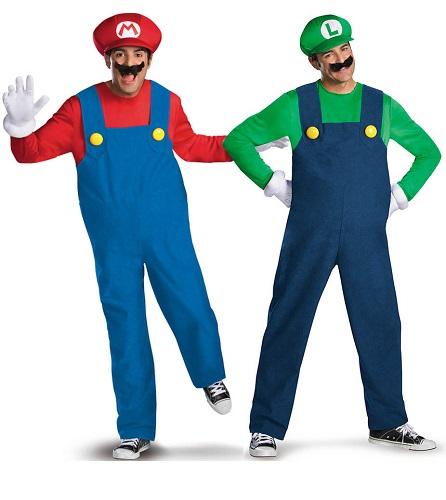 Mario und Luigi Kostüm Herren Männer