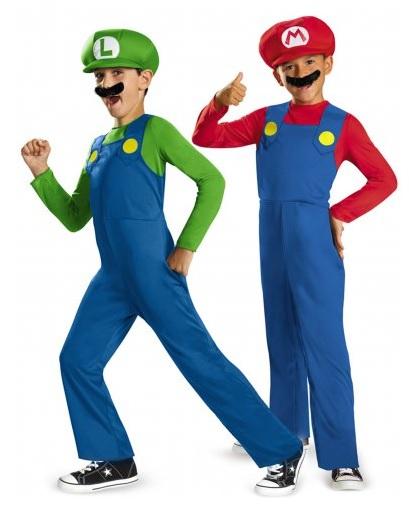 Mario und Luigi Kostüm Kinder Jungen