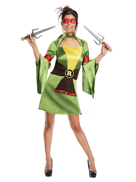 Ninja Turtles Kostüm Damen Frauen Erwachsene