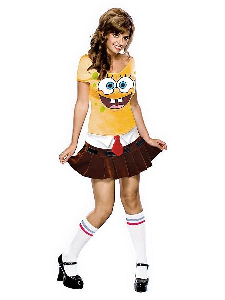Spongebob Kostüm Damen Frauen Erwachsene