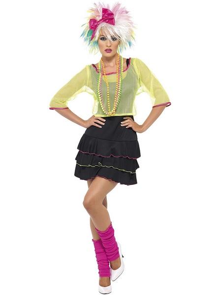 80er Jahre Outfit Damen Retro Kostüm Frauen Erwachsene